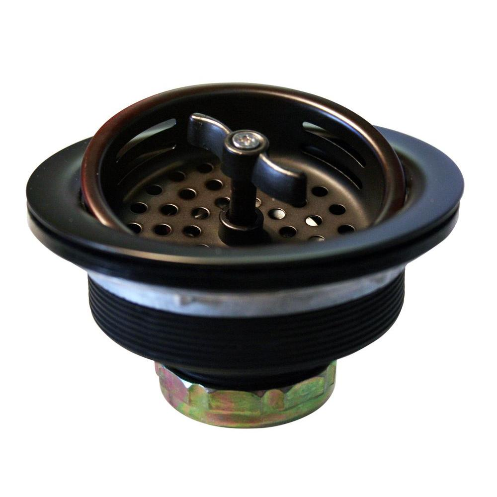 Westbrass 3-1/2 in. Wing Nut Basket Strainer in Oil Rubbed Bronze