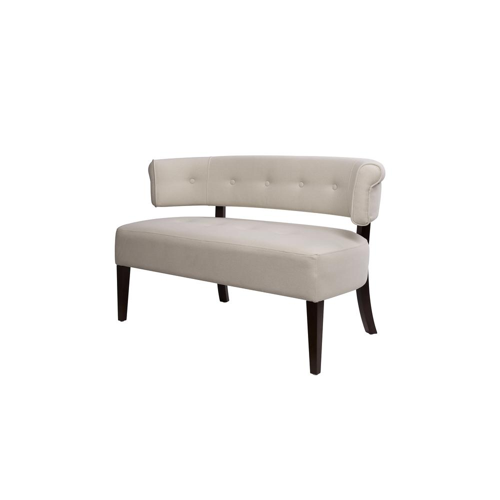 Jared Sky Neutral Tufted Bench Settee