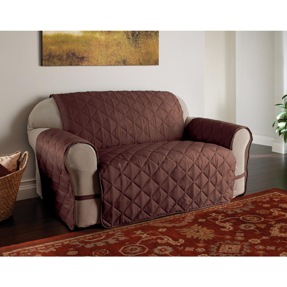 Microfiber Ultimate Solid Chocolate Sofa Protector