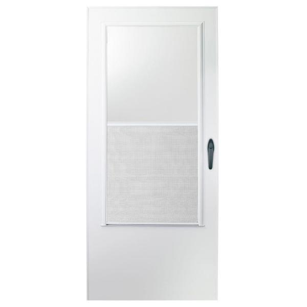 30 in. x 78 in. 100 Series White Self-Storing Storm Door