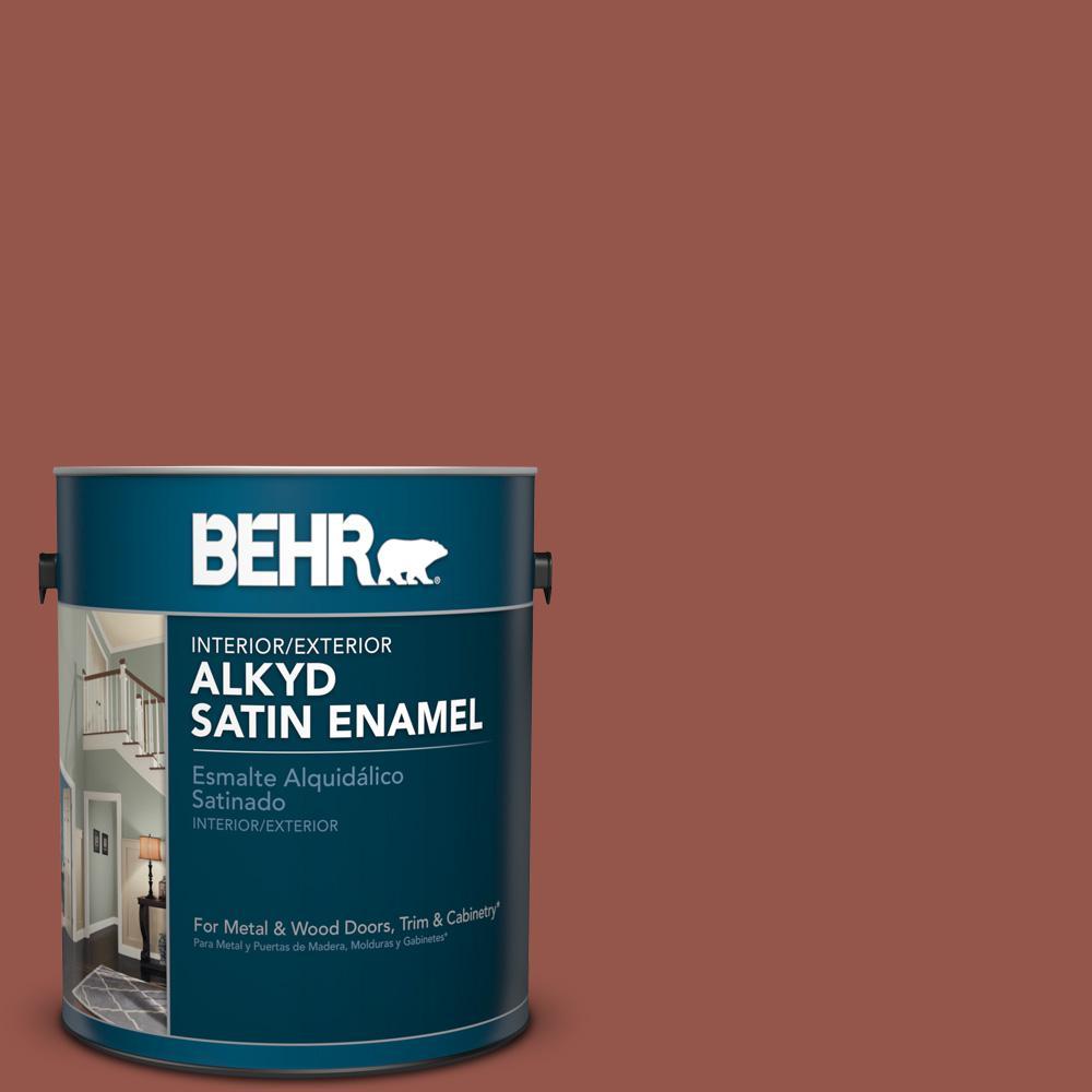 1 gal. #BIC-47 Caliente Satin Enamel Alkyd Interior/Exterior Paint