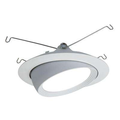Matte White LED Recessed Ceiling Light Flange Attachable Module Trim with Adjustable Eyeball  sc 1 st  The Home Depot & 5 in. - Halo - Eyeball - Recessed Lighting Trims - Recessed ... azcodes.com