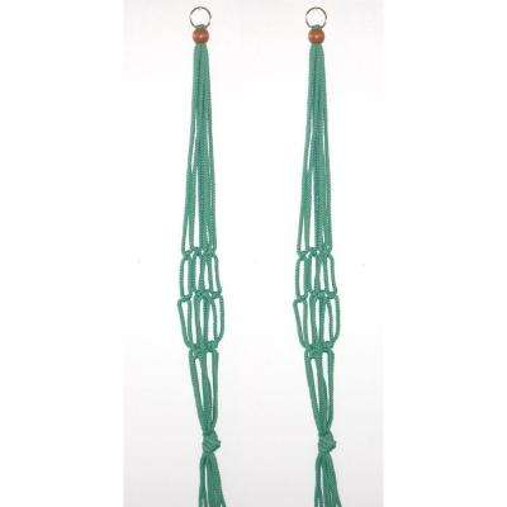 30 in. Sage Green Polypropylene Macrame Plant Hangers (2-Pack)