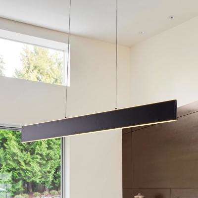 Wezen 43-Watt Black Integrated LED Linear Chandelier