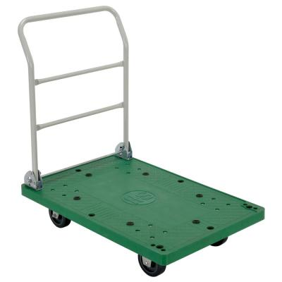 500 lb. 37 in. x 25 in. Plastic Platform Truck with Folding Handle