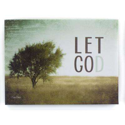 "12 In. W x 9 In. H ""Let Go Let God"" by KLB Framed Printed Wall Art"