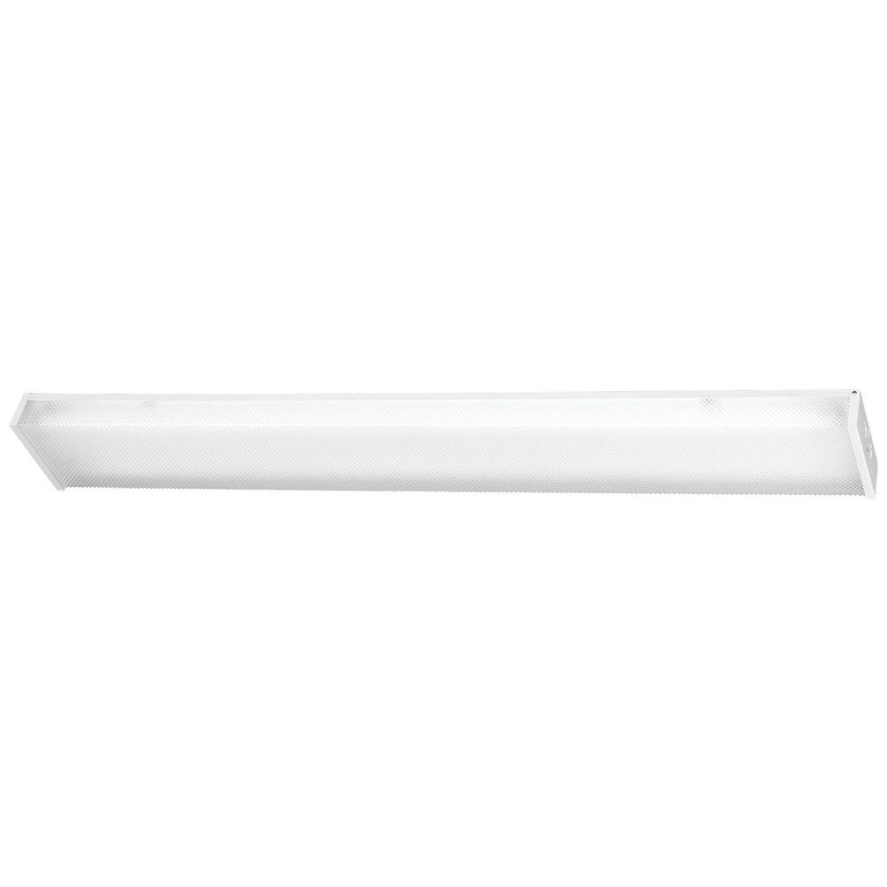 Minka Lavery 2-Light White Utility Ceiling Flushmount