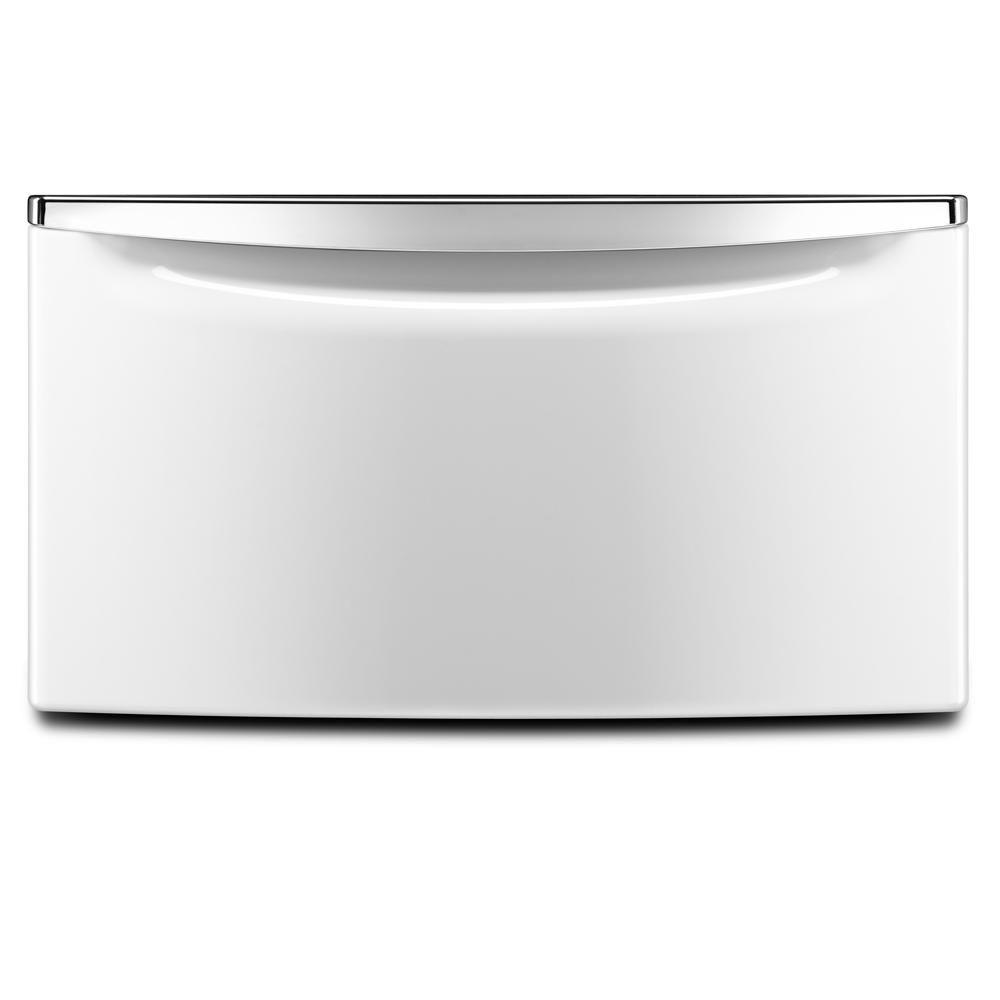 Maytag 15.5 in. White Pedestal for Front Load Washer and Dryer with Storage