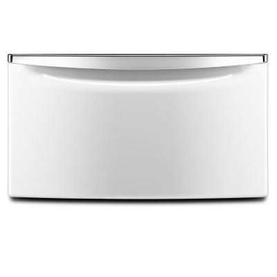 15.5 in. White Pedestal for Front Load Washer and Dryer with Storage