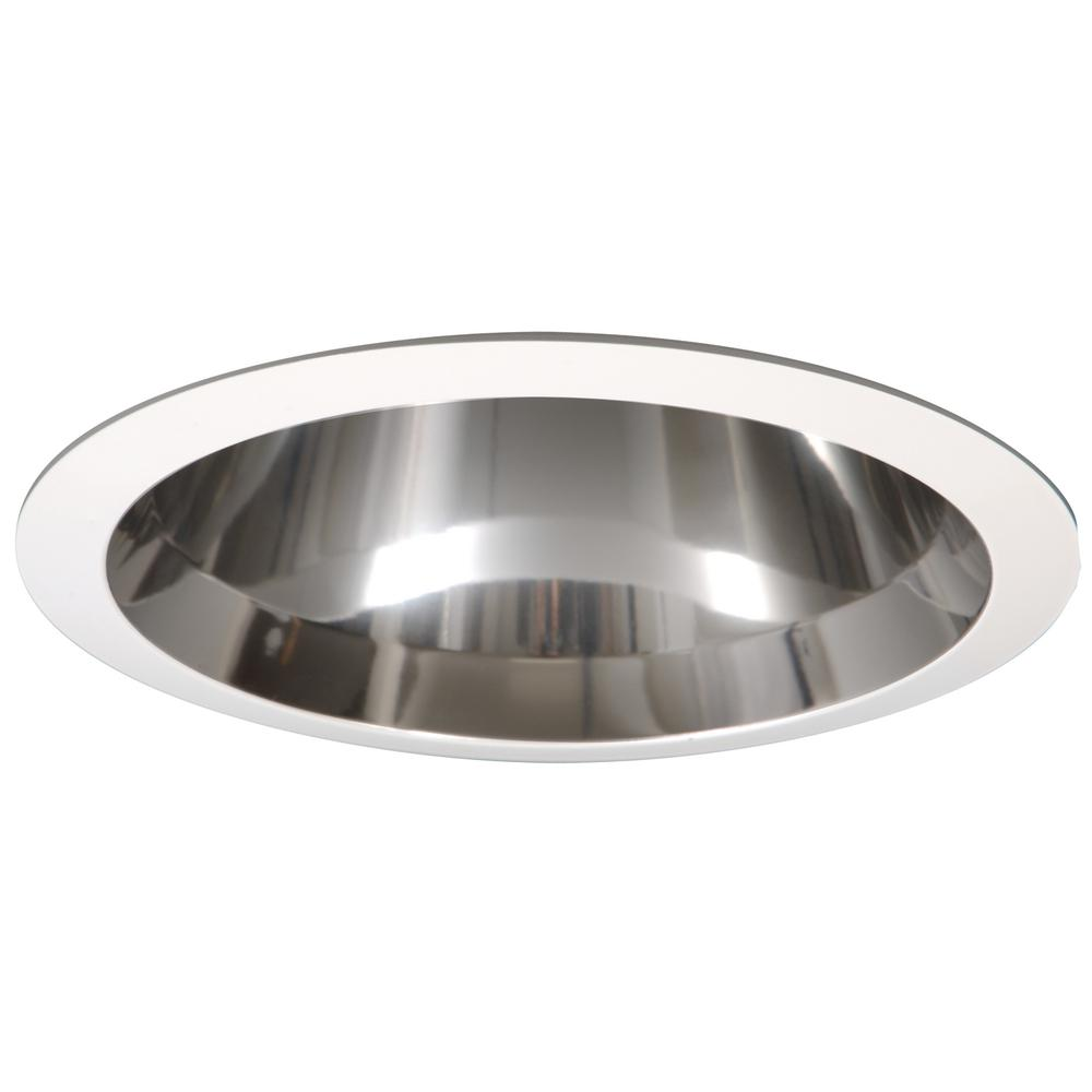 All Pro 6 In White Cfl Recessed Ceiling Light Specular Reflector Trim