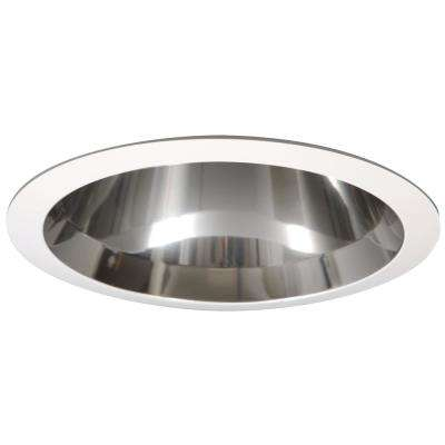 6 in. White CFL Recessed Ceiling Light Specular Reflector Trim