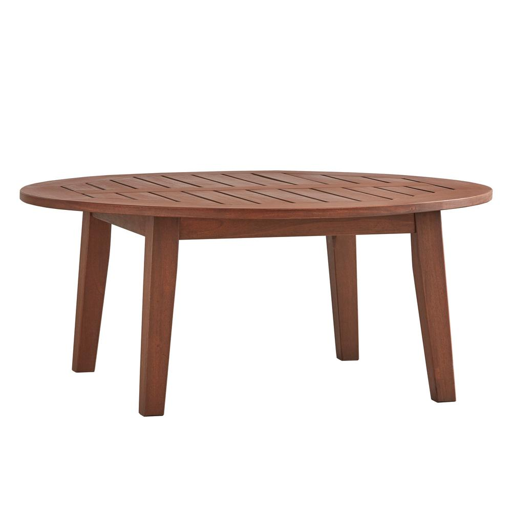 Outdoor Coffee Table: HomeSullivan Verdon Gorge Brown Oiled Wood Outdoor Coffee