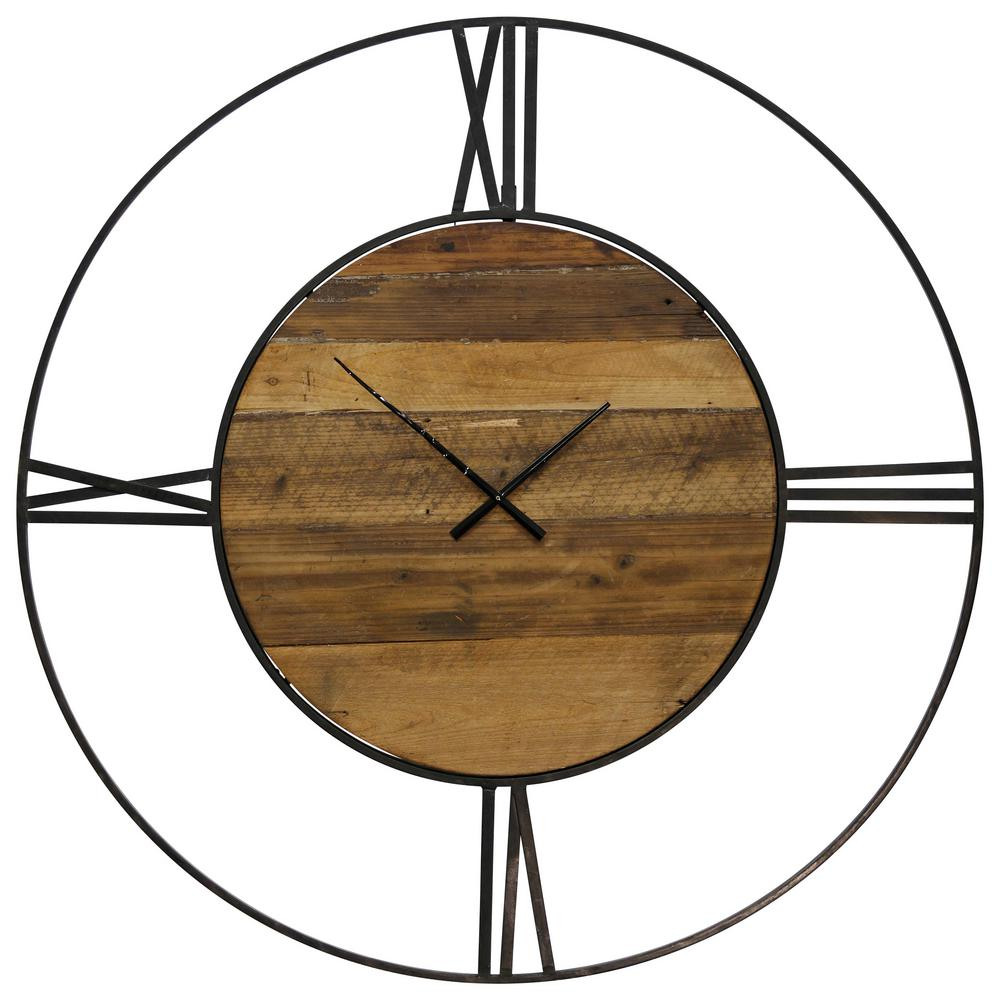 StyleCraft Contemporary Natural, Black Roman Numeral Analog Clock was $192.74 now $103.92 (46.0% off)