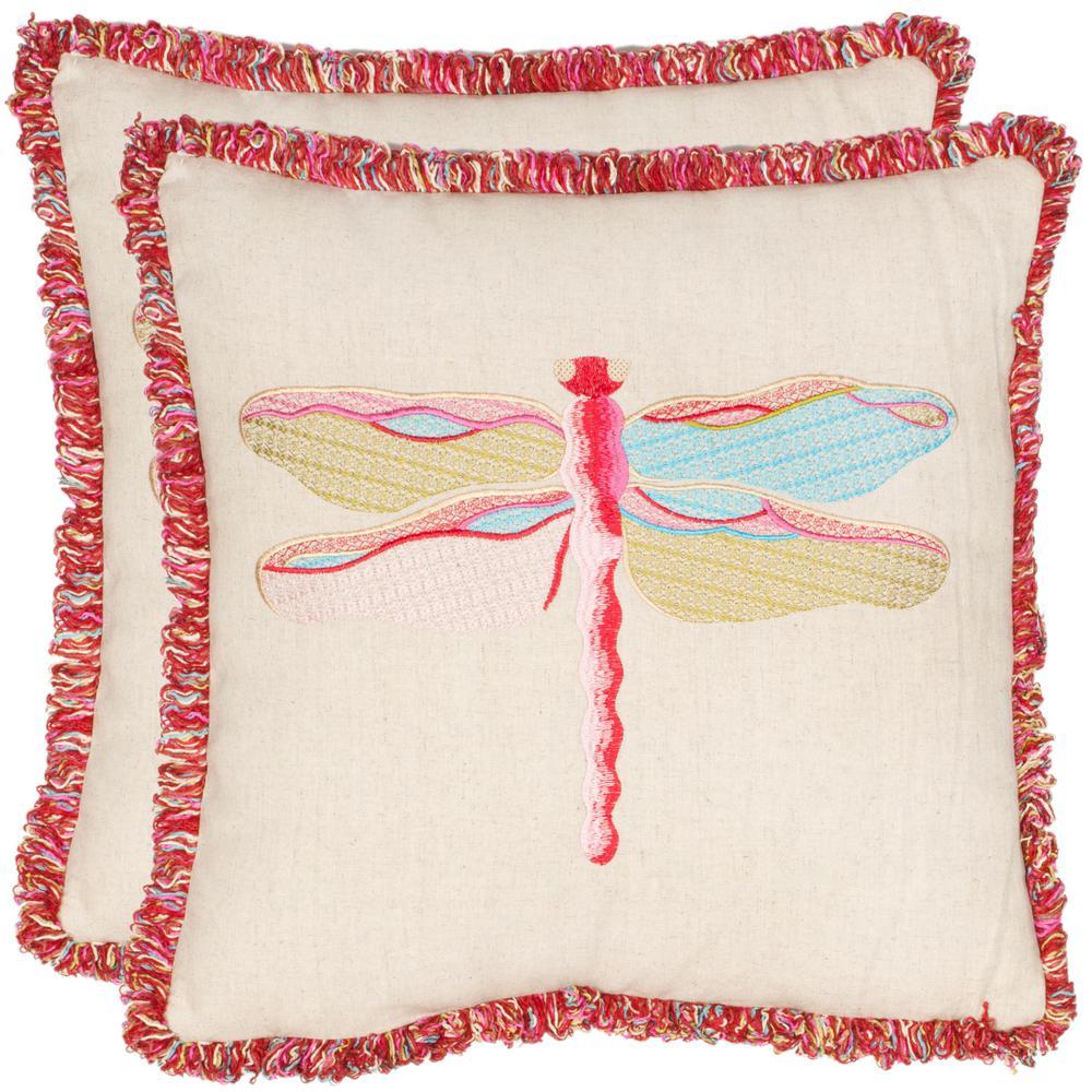 Safavieh Azure Demoiselle Nature Pillow (2-Pack)