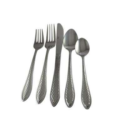 American Hammered 20-Piece Stainless Steel Flatware Set