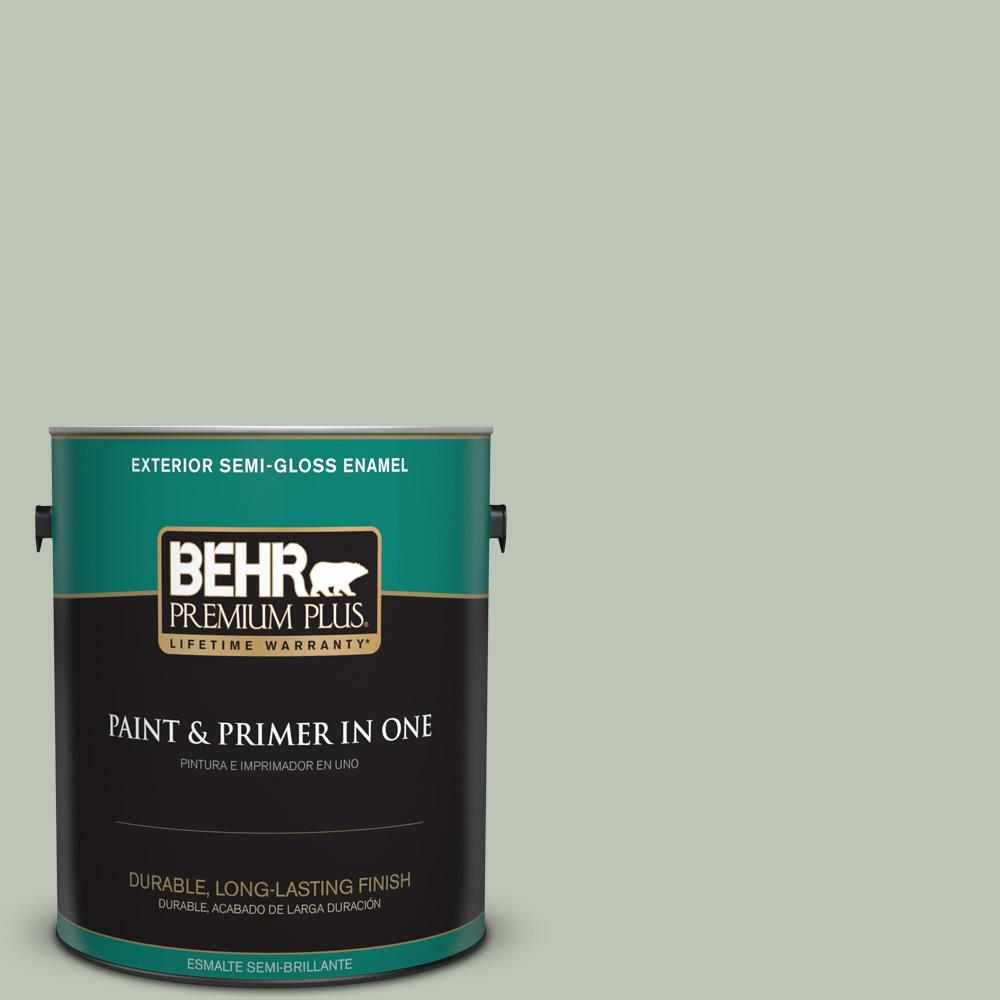 1 gal. #PPU11-11 Summer Green Semi-Gloss Enamel Exterior Paint