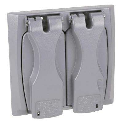2 Gang Horizontal or Vertical Cover - Universal Silver (Case of 6)