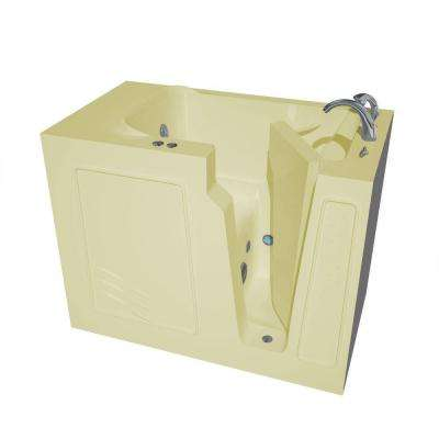 4.4 ft. Right Drain Walk-In Whirlpool Bath Tub in Biscuit