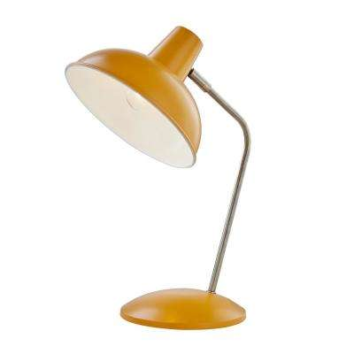 Retro Hylight 15 in. Mustard Yellow Desk Lamp