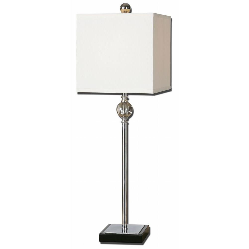 Global Direct 28 in. Chrome and Crystal Accent Lamp