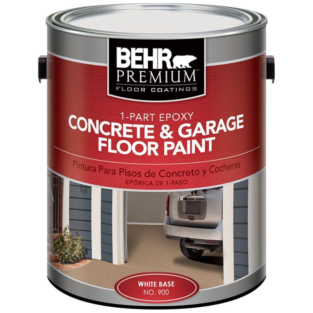 BEHR Premium 1-gal. Satin 1-Part Epoxy Acrylic Concrete and Garage Floor Paint