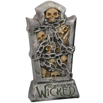 24 in. No Rest for The Wicked Tombstone Graveyard Halloween Decoration