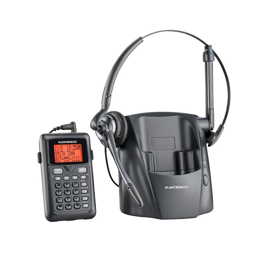 81ce75dc608 Plantronics Cordless Phone with Headset-PL-CT14 - The Home Depot