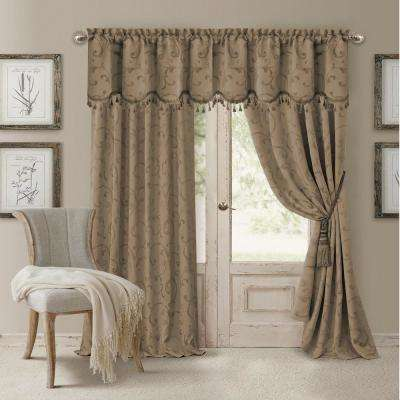 Mia Jacquard Scroll Blackout Window Curtain