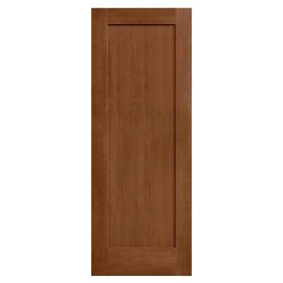 24 in. x 80 in. Madison Hazelnut Stain Solid Core Molded Composite MDF Interior Door Slab