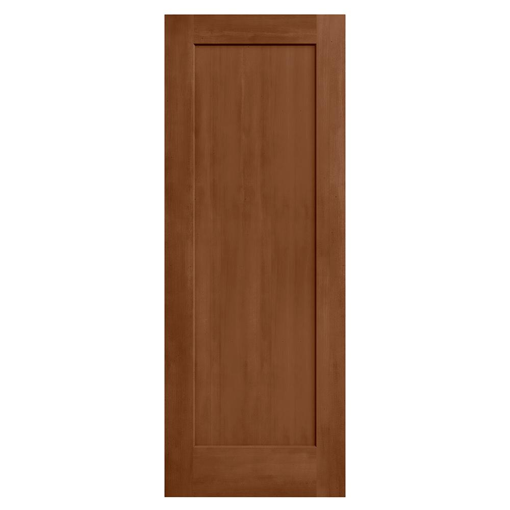 Jeld wen 32 in x 80 in madison hazelnut stain solid core for Solid core mdf interior doors