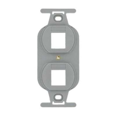 QuickPort Standard Size Type 106 2-Port Insert in Gray