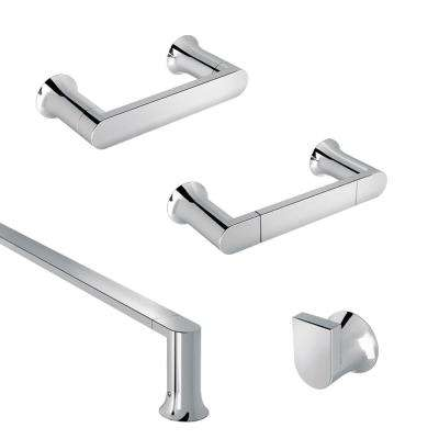Genta 4-Piece Bath Hardware Set in Chrome