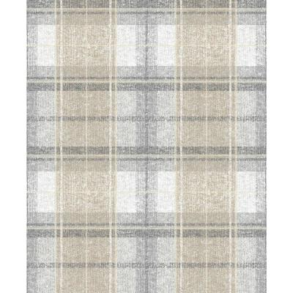 28.29 sq. ft. Tweed Plaid Peel and Stick Wallpaper