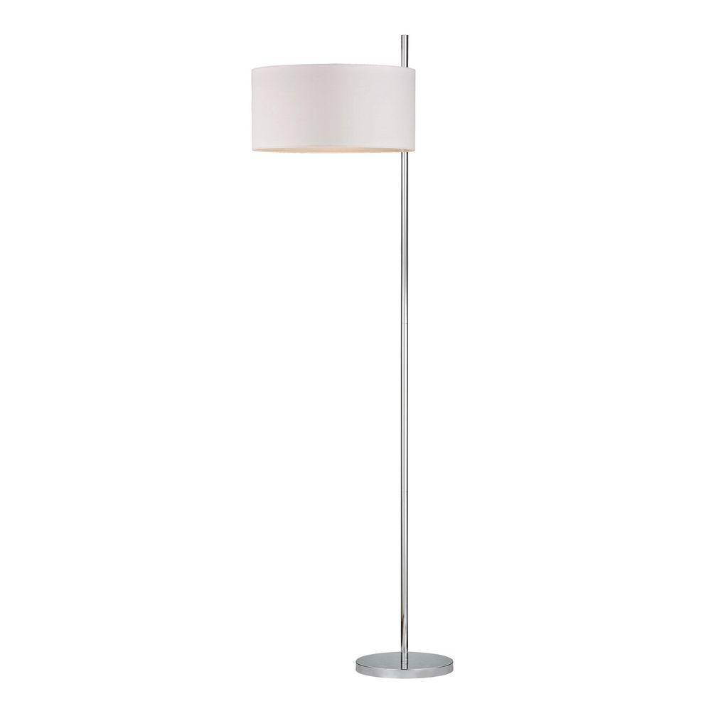 Titan Lighting Attwood 64 in. Polished Nickel Floor Lamp-TN-999640 ...