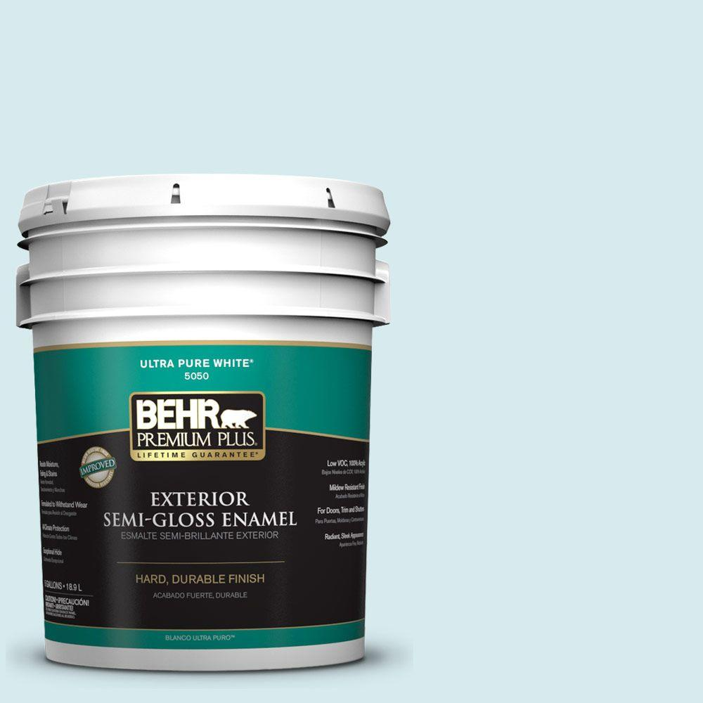Home Decorators Collection 5-gal. #HDC-MD-23 Ice Mist Semi-Gloss Enamel Exterior