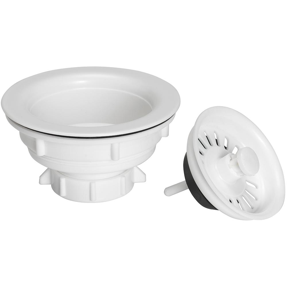 Plastic Sink Strainer in White