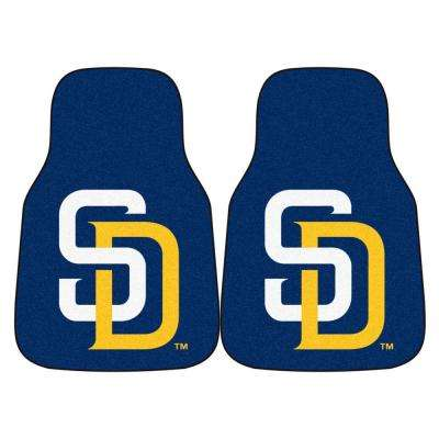 San Diego Padres 18 in. x 27 in. 2-Piece Carpeted Car Mat Set