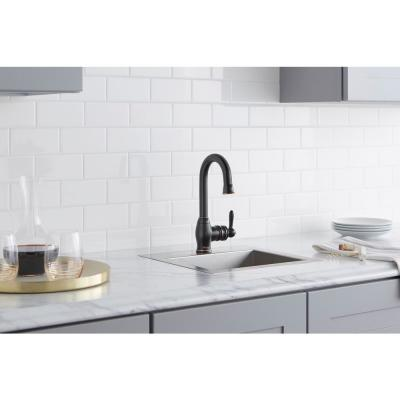Newbury Single-Handle Bar Faucet in Oil-Rubbed Bronze
