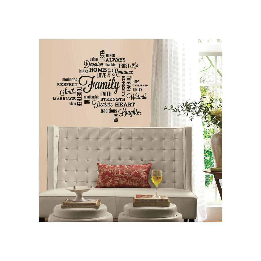 Roommates 5 In X 11 5 In Family Quote Peel And Stick Wall Decal