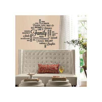 5 in. x 11.5 in. Family Quote Peel and Stick Wall Decal