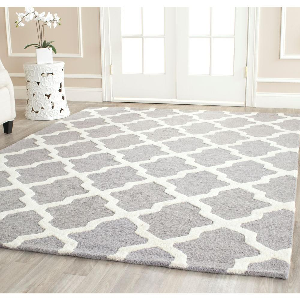 Safavieh Cambridge Silver Ivory 8 Ft X Square Area Rug