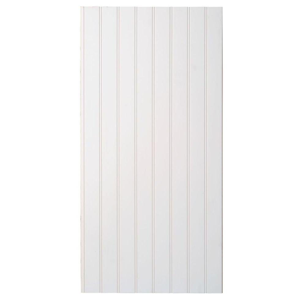 Marlite Supreme Wainscot 8 Linear ft. HDF Tongue and Groove Paintable White Beadboard Panel (6-Pack)