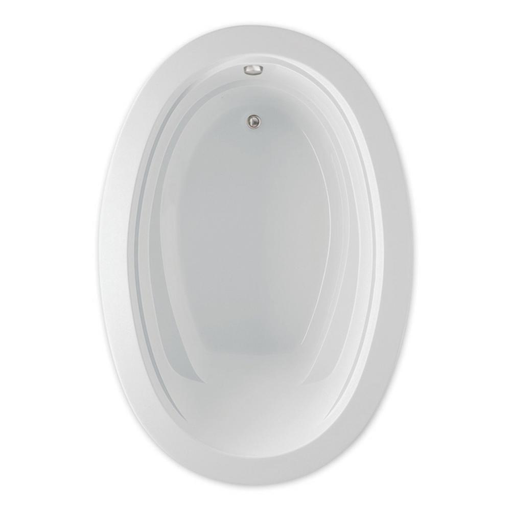 Belmont II 6 ft. Acrylic Universal Drain Oval Drop-in Soaking Bathtub