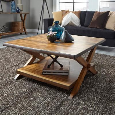 Forest Retreat Live Teak Wood Brown Coffee Table