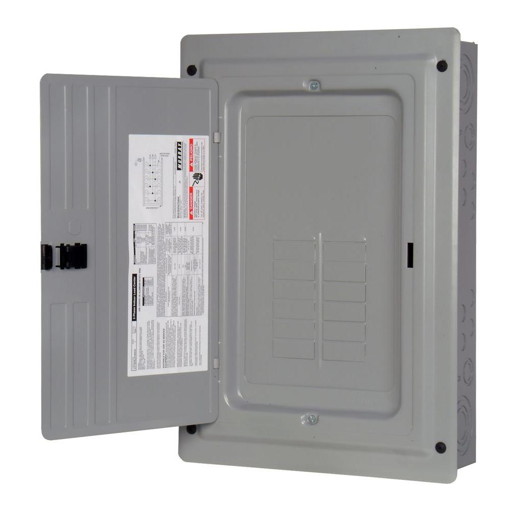 null 125 Amp 12-Space 24-Circuit SURF Indoor Main Lug Load Center-DISCONTINUED