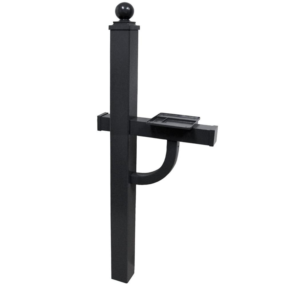 Gaines Manufacturing Keystone Deluxe Mailbox Post in Black