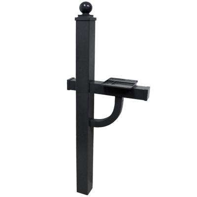 Keystone Deluxe Mailbox Post in Black