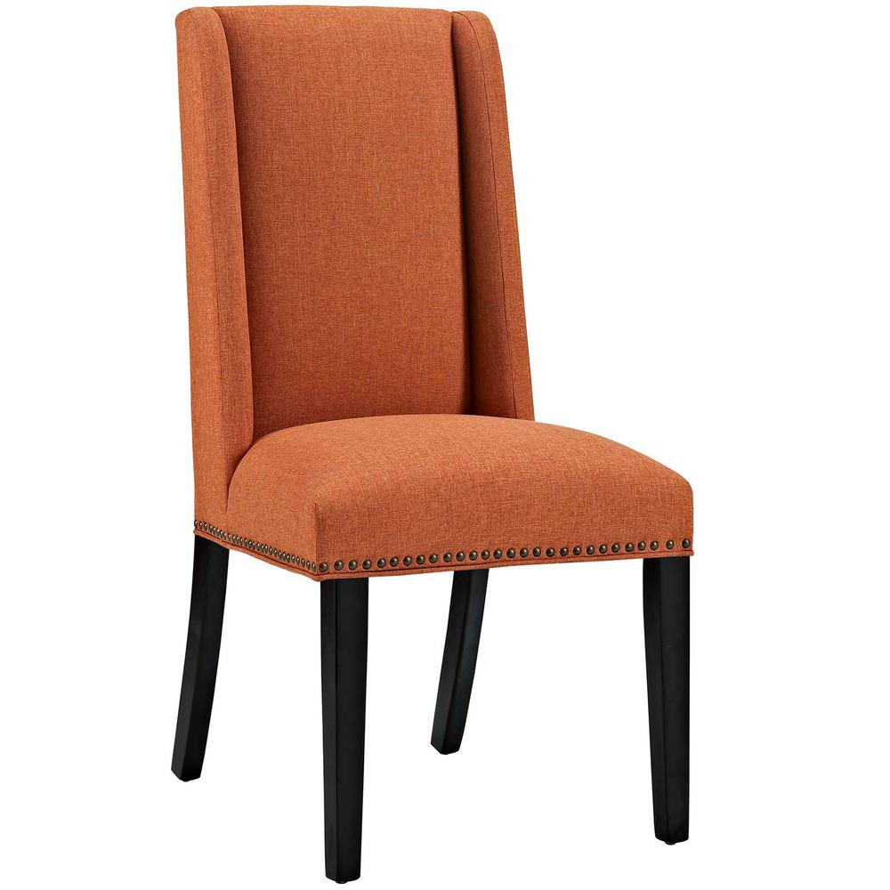Orange Dining Chairs: MODWAY Baron Orange Fabric Dining Chair-EEI-2233-ORA