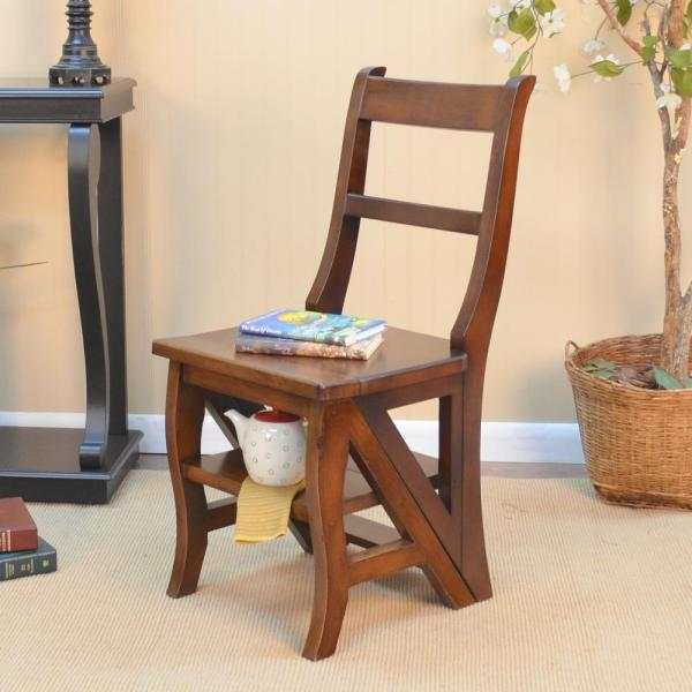 Carolina Cottage Chestnut Wood Folding Library Chair