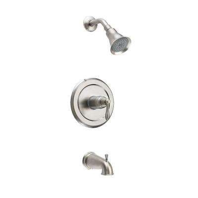 Montbeliard Single-Handle 1-Spray Tub and Shower Faucet in Brushed Nickel (Valve Included)
